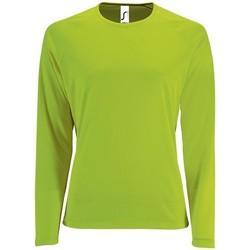 Abbigliamento Donna T-shirts a maniche lunghe Sols SPORT LSL WOMEN Verde
