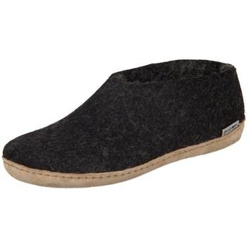 Scarpe Donna Pantofole Glerups DK Shoe Charcoal Lammwollfilz Nero
