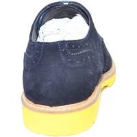 Scarpe Uomo Richelieu Malu Shoes Stringata art profu 03456 blu di camoscio fondo profumato ultra BLU