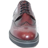 Scarpe Uomo Richelieu Made In Italy scarpe uomo stringate vera pelle abrasivato bordeaux made in ly BORDEAUX