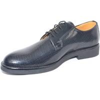 Scarpe Uomo Derby Made In Italia scarpe uomo inglese nero abrasivato microforato vera pelle made NERO