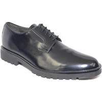 Scarpe Uomo Derby Malu Shoes scarpe inglese stringate uomo nero black stringhe punta tonda f NERO