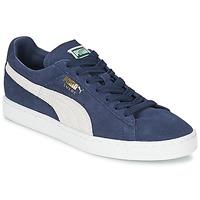 Scarpe Sneakers basse Puma SUEDE CLASSIC Blu / Bianco