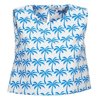 Abbigliamento Donna Top / T-shirt senza maniche Suncoo LANA Bianco / Blu