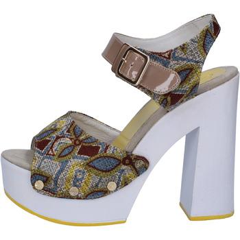 Scarpe Donna Sandali Suky Brand sandali beige tessuto vernice AB308 beige