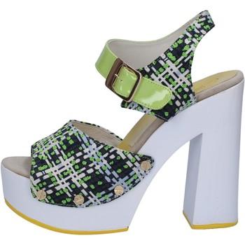 Scarpe Donna Sandali Suky Brand sandali verde tessuto vernice AB309 Verde