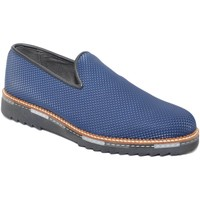 Scarpe Uomo Mocassini Made In Italy Calzature uomo mocassino blu in vera pelle piramide made in ita BLU