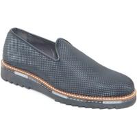 Scarpe Uomo Mocassini Made In Italia Calzature uomo scarpe mocassino nero in vera pelle piramide mad NERO