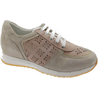 Scarpe Donna Sneakers basse Loren C3795 scarpa donna ortopedica sneacker lacci beige cipria blu