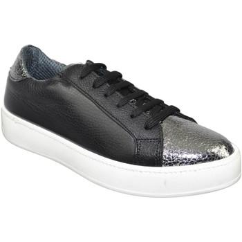 Scarpe Uomo Sneakers basse Malu Shoes SNEAKERS SCARPE DONNA SPORTIVO GINNICO VERA PELLE MADE IN ITALY NERO