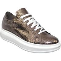 Scarpe Donna Sneakers basse Malu Shoes sneakers scarpe donna sportivo ginnico vera pelle made in italy ORO