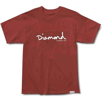Abbigliamento Uomo T-shirt maniche corte Diamond Supply Co. C17DMPA05-BORG Marrone