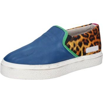 Scarpe Donna Slip on Date scarpe donna D.A.T.E. (DATE) slip on blu pelle tessuto AB540 blu