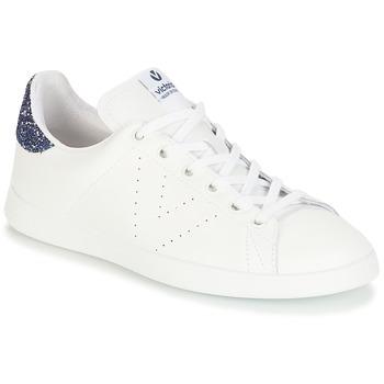 Scarpe Bambina Sneakers basse Victoria DEPORTIVO BASKET PIEL Bianco / Blu