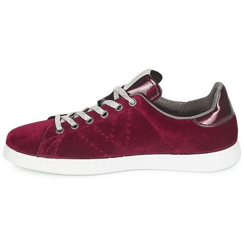 Deportivo Terciopelo Victoria Bordeaux Gratuita 3450 Donna Basse Consegna Scarpe Sneakers ymNOvn0w8