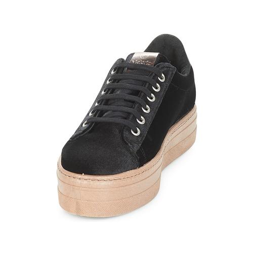 Basse Deportivo Donna caram Gratuita Sneakers Victoria 3450 Terciopelo Nero Scarpe Consegna H29DWEYI