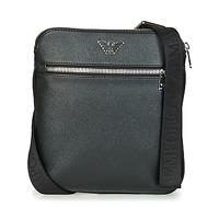 Borse Uomo Pochette / Borselli Emporio Armani BUSINESS FLAT MESSENGER BAG Nero