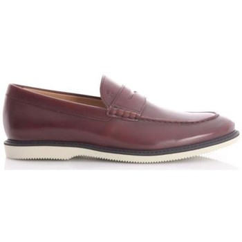 Scarpe Uomo Mocassini Hogan MOCASSINI IN PELLE MARRONE Brown
