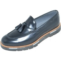Scarpe Uomo Mocassini Made In Italia scarpe uomo mocassino fondo mare chiaro nero nappe vera pelle m NERO