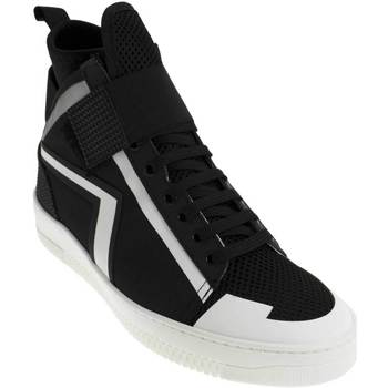 Scarpe Uomo Sneakers alte Louise Open SNEAKERS  ART:TN010 MATERIALE TESSILE NERO CON INSER NERO