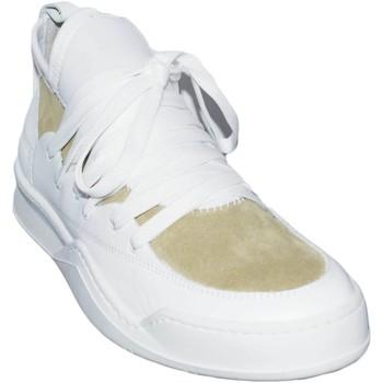 Scarpe Uomo Sneakers basse Malu Shoes Sneakers bassa made in italy art marcelo bicolore beige/bianco a BIANCO