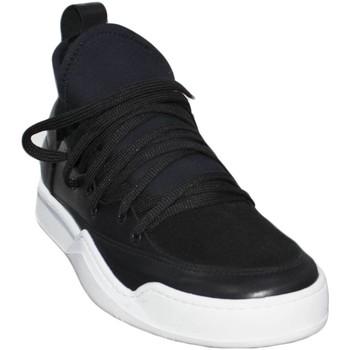 Scarpe Uomo Sneakers basse Malu Shoes Sneakers bassa made in italy art marcelo az0120 vera pelle fond NERO