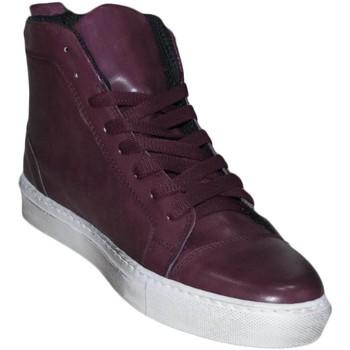 Scarpe Uomo Sneakers alte Malu Shoes Sneakers Alta bordeaux spazzolato classico sportivo linea basic BORDEAUX