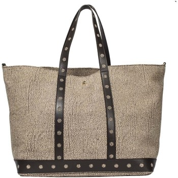 Borse Donna Tote bag / Borsa shopping Borbonese SHOPPING LARGE IN PELLE Marrone