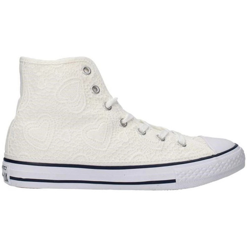 converse all star pizzo bianche