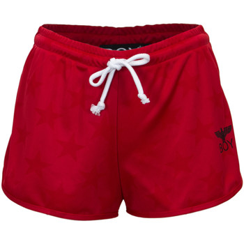 Abbigliamento Donna Shorts / Bermuda Boy London DONNA SHORTS TRIACETATO STAMPATO BL1114 Rosso