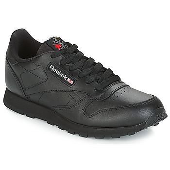 Scarpe Unisex bambino Sneakers basse Reebok Classic CLASSIC LEATHER J Nero