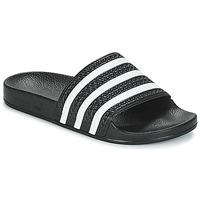 Scarpe ciabatte adidas Originals ADILETTE Nero / Bianco