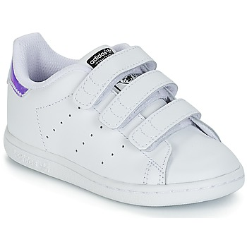 Scarpe Bambina Sneakers basse adidas Originals STAN SMITH CF I Bianco / Argento