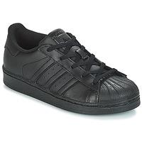 Scarpe Unisex bambino Sneakers basse adidas Originals SUPERSTAR C Nero