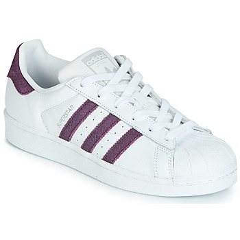 Scarpe Donna Sneakers basse adidas Originals SUPERSTAR W Bianco / Viola
