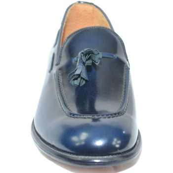 Scarpe Uomo Mocassini Made In Italia Scarpe uomo classico mocassino inglese elegante cerimonia abras BLU