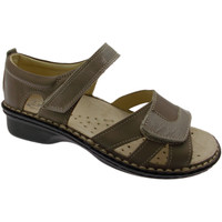 Scarpe Donna Sandali Loren M2524 scarpa sandalo taupe extra large ortopedico regolabile tortora