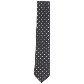 Abbigliamento Uomo Cravatte e accessori Gierre CRAVATTA BLU NOTTE CON FIORI CELESTI Blue