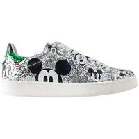 Scarpe Donna Sneakers Moa MD148KIT Silver Green Mickey Mouse Multicolor