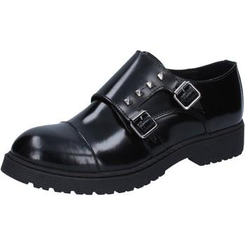 Scarpe Donna Derby Islo classiche nero pelle BZ228 Nero