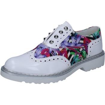 Scarpe Donna Derby Cult scarpe donna  classiche bianco pelle lucida multicolor tessuto B Multicolore