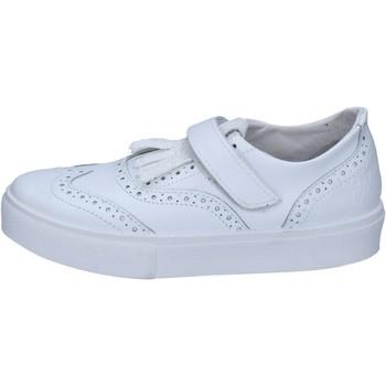 Scarpe Donna Sneakers basse 2 Stars sneakers bianco pelle glitter BZ521 Bianco