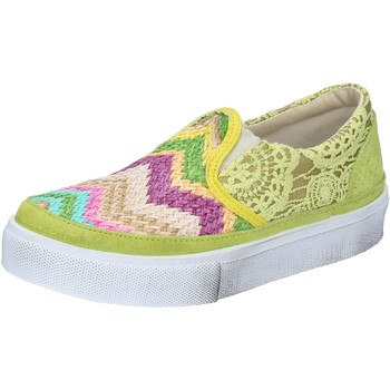 Scarpe Donna Slip on 2star scarpe donna 2 STAR slip on giallo tessuto camoscio BZ524