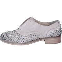 Scarpe Donna Derby Onako ONAKO' classiche grigio pelle borchie BZ629 Grigio