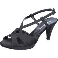 Scarpe Donna Sandali Calpierre sandali nero raso BZ739 Nero