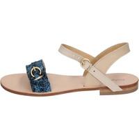 Scarpe Donna Sandali Calpierre sandali blu pelle BZ838 blu