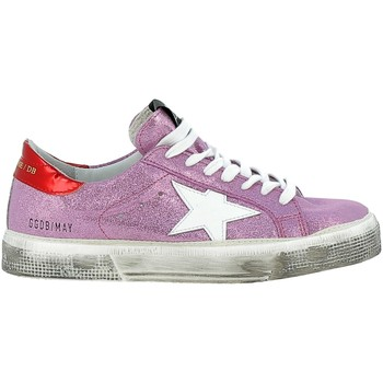 Scarpe Donna Sneakers Golden Goose May Pelle Glitter Rosa