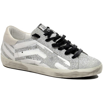 Scarpe Donna Sneakers Golden Goose Superstar Flag Edition White