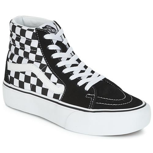 Vans Donna Bianco Scarpe Alte Sk8 Sneakers 1 2 Hi Platform Nero rPqSZr