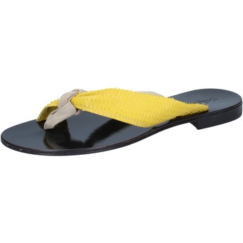 Scarpe Donna Sandali Calpierre sandali beige camoscio giallo pelle BZ869 beige